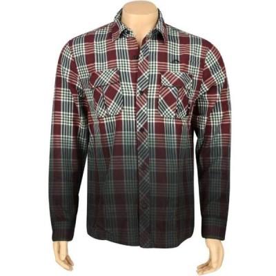 ザハンドレッツ ユニセックス 服  The Hundreds Young Woven Long Sleeve Shirt (maroon)