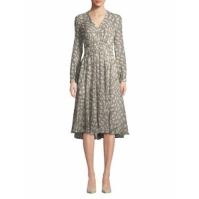 デレクラム レディース ワンピース V-Neck Silk Dress