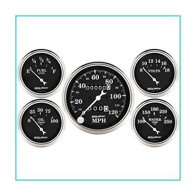 Autometer 1708 Old Tyme Black Series w Kit Box Speedometers【並行輸入品】