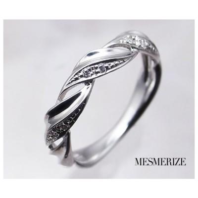 pt950 pt900 天然 ダイヤ 0.04ct プラチナ リング ねじり デザイン 指輪 レディース SIクラス ダイヤモンド 0.04カラット エンゲージ シンプル 品質保証書付