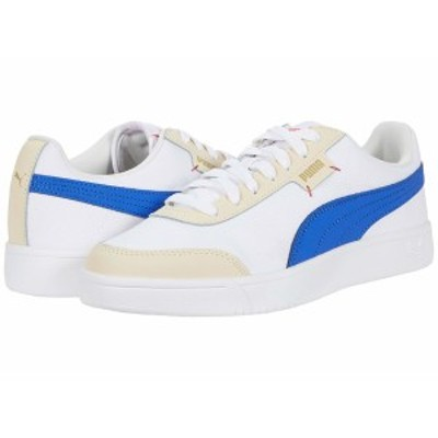 プーマ メンズ スニーカー シューズ Court Legend  Lo CV Puma White/Dazzling Blue/Tapioca/Puma Team Gold/Hot Coral