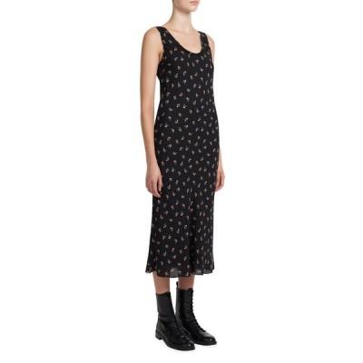 セオリー レディース ワンピース トップス Floral Print Scoop-Neck Silk Tank Dress