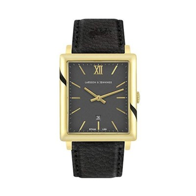Larsson & Jennings LJXII Norse Unisex Mens & Womens Watch with 40mm Black dial and Black Leather Strap NX40-LBK-GB. 並行輸入品