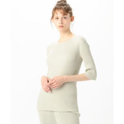 【トゥモローランド】 Lauren Manoogian コットンシルク リブニットTシャツ レディース 51ライトグリーン 1 TOMORROWLAND