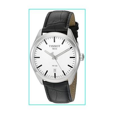 【新品】Tissot Men's 'Pr 100' Swiss Quartz Stainless Steel and Leather Dress Watch, Color:Black (Model: T1014101603100)(並行輸入品)