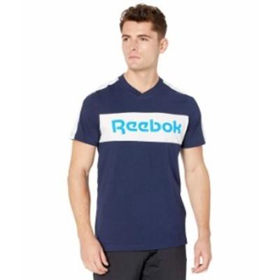 リーボック メンズ シャツ トップス Training Essentials Logo Short Sleeve Graphic Tee Vector Navy