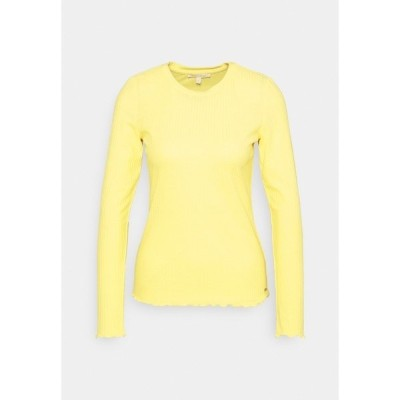 トムテイラーデニム カットソー レディース トップス LONGSLEEVE - Long sleeved top - soft yellow