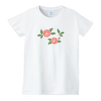 花 フラワー Tシャツ 白 レディース 女性用 jfw61