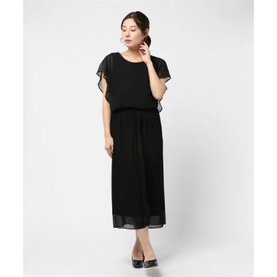ドレス シフォンプリーツドレス