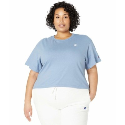 チャンピオン シャツ トップス レディース Heritage Cropped T-Shirt Wildflower Pale Blue