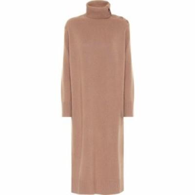 マックスマーラ Max Mara レディース ワンピース ミドル丈 ワンピース・ドレス musa wool and cashmere midi dress Cammello Unito