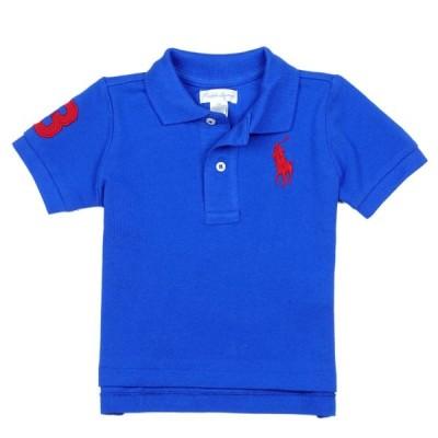 ラルフローレン RALPH LAUREN ベビー 男の子 ポロシャツ Cotton Mesh Polo Shirt ブルー サターン Blue Saturn