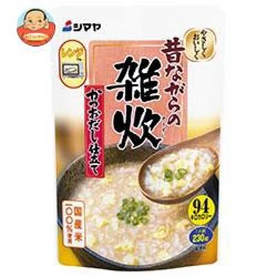 送料無料  シマヤ  昔ながらの雑炊  かつおだし仕立て レトルト  230g×10袋入