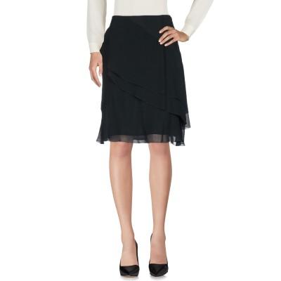 ANNA RACHELE ひざ丈スカート ブラック 42 レーヨン 100% ひざ丈スカート