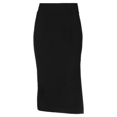 メルシー ..,MERCI 7分丈スカート ブラック 40 レーヨン 69% / ナイロン 25% / ポリウレタン 6% 7分丈スカート