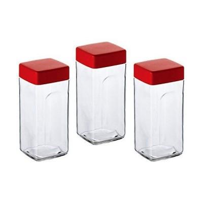 アデリア ガラス 保存瓶 900ml ハンディスクエアポット 3個セット 日本製 M-6513