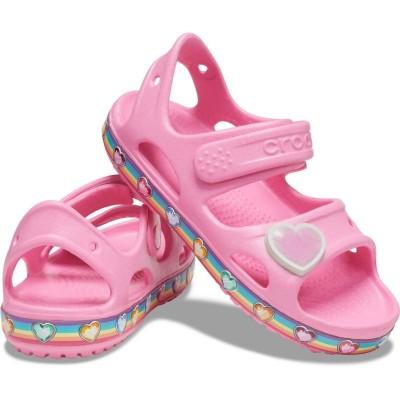 [クロックス公式] サンダル クロックス ファン ラブ レインボー サンダル キッズ ガールズ、キッズ、子供用、女の子 ピンク 13cm,14cm,15cm,15.5cm,16.5cm,17.5cm,18cm,18.5cm,19cm,19.5cm Kids' Crocs Fun Lab Rainbow Sandal