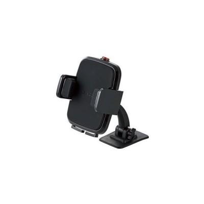 ELECOM P-CARS01BK 車載アクセサリー スマホスタンド テープ貼付タイプ ブラック 雑貨・小物用品