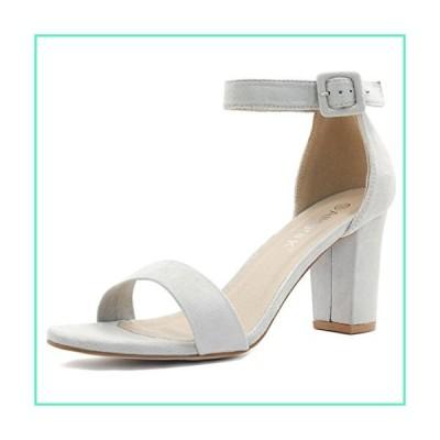 Allegra K Women's Chunky High Heel Ankle Strap Sandals (Size US 7.5) Grey並行輸入品