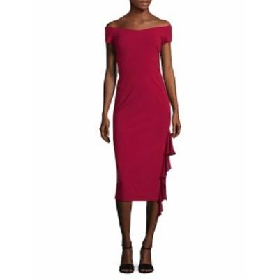 ニコールミラー レディース ワンピース Heavy Jersey Off-Shoulder Dress