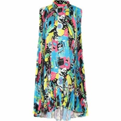 バレンシアガ Balenciaga レディース ワンピース ワンピース・ドレス Printed minidress Black/Pink/Blue