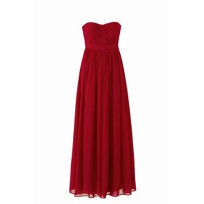 Jenny Yoo ジェニーヨー ファッション ドレス Jenny Yoo Red Womens Size 8 Strapless Twist Front Aidan Gown Dress