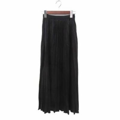 【中古】ジェイエフレディメイド Jf Ready Made スカート F 黒 ブラック プリーツ イージーウエスト 無地 レディース
