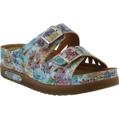スプリングステップ Flexus by Spring Step レディース サンダル・ミュール スライドサンダル シューズ・靴 Delsie Slide Sandal Blue Multi Synthetic