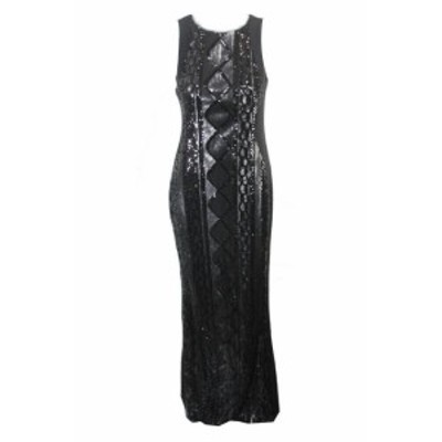 Adrianna Papell アドリアーナ パペル ファッション ドレス Adrianna Papell Black Geometric Sequined Gown 4