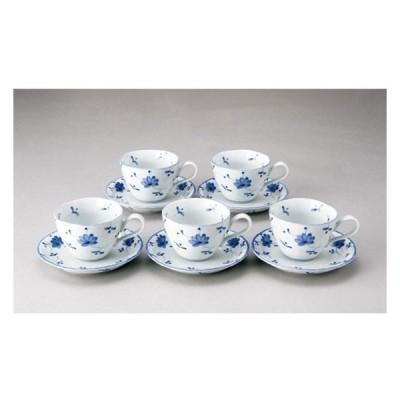 花唐草コーヒー碗皿5客セット いちがま 2306-3