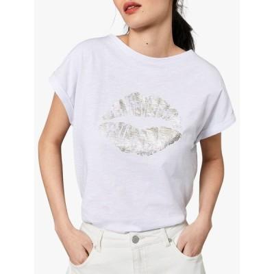 ミルトンベルベット シャツ レディース トップス Mint Velvet Lips Slub T-Shirt