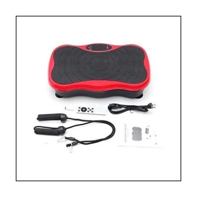 TGGH Vibration Plate Exercise Machine - Whole Body Workout Vibration Fitness Platform Fit Massage Workout Trainer w/Loop Bands + Bluetooth +