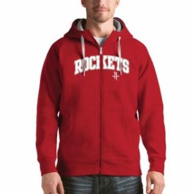 Antigua アンティグア スポーツ用品  Antigua Houston Rockets Red Victory Full Zip Hoodie
