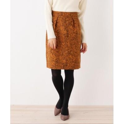 SOUP(スープ) フラワー柄タックタイトスカート