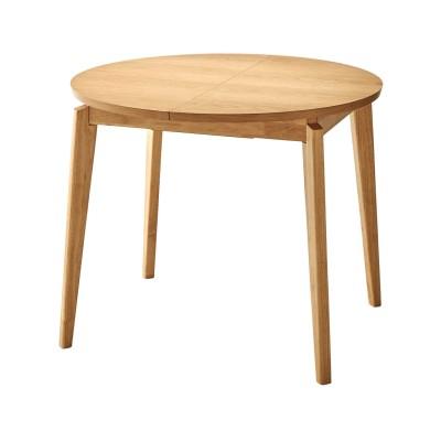 集える円形エクステンションダイニングテーブル 【丸型伸張式ダイニングテーブル】(BELLE MAISON DAYS)