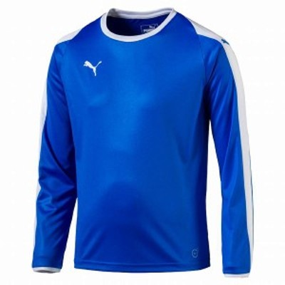 ◆◆ <プーマ> PUMA LIGA LS ゲームシャツ ジュニア 703668 (02:エレクトリックブルーレモネード/ホワイト)
