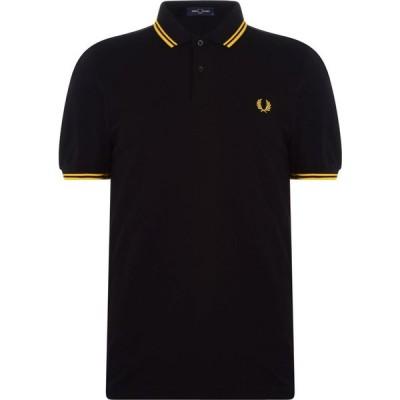 フレッドペリー Fred Perry メンズ ポロシャツ 半袖 トップス Short Sleeve Twin Tipped Polo Shirt Black/Yell