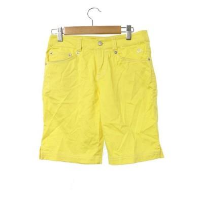 カッパ kappa パンツ ハーフ ショート 7 黄色 イエロー /MO14 メンズ【中古】【ベクトル 古着】