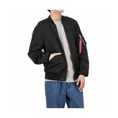 【マックハウス】 ALPHA アルファ L-2B ジャケット POLY TAFFE TA1531-0 メンズ ブラック L MAC HOUSE