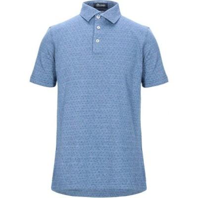 ドルモア DRUMOHR メンズ ポロシャツ トップス polo shirt Slate blue