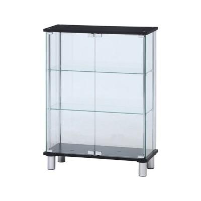 不二貿易 ガラスディスプレイケース3段 ワイド/99486