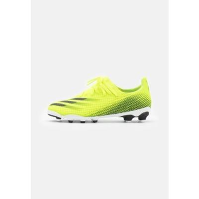 アディダス キッズ スポーツ用品 X GHOSTED.3 MG UNISEX - Moulded stud football boots - solar yellow/core black/royal blue