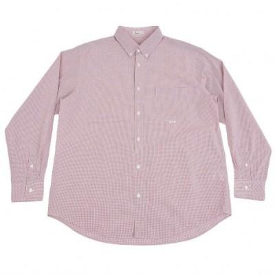 パパスPapas コットンチェックシャツ 白赤52LL 【メンズ】