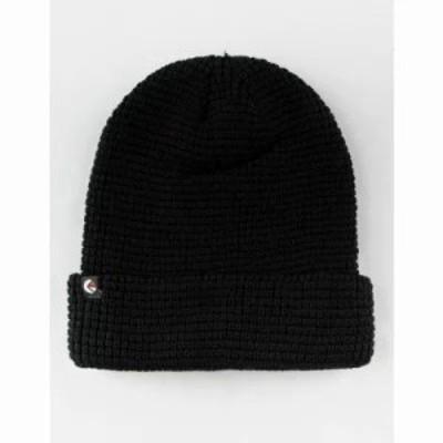 エシカ ニット Thermal Knit Black Beanie Black
