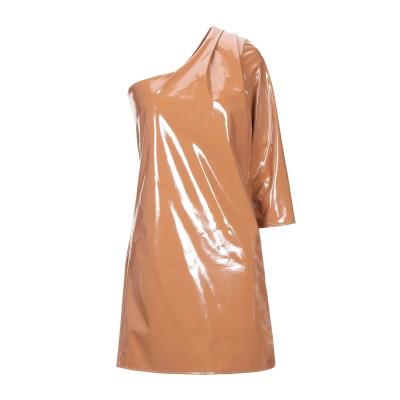 スーベニア SOUVENIR ミニワンピース&ドレス ブラウン S ポリエステル 89% / ポリウレタン 11% ミニワンピース&ドレス