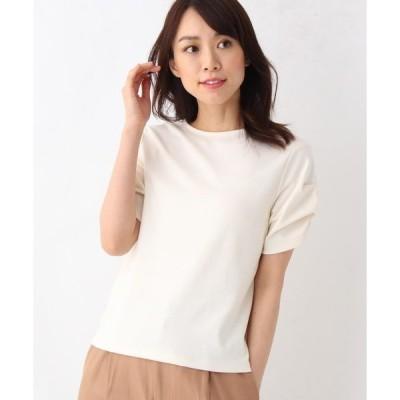 tシャツ Tシャツ 【洗える】【抗菌防臭/UVケア/接触冷感】スムース袖タックプルオーバー
