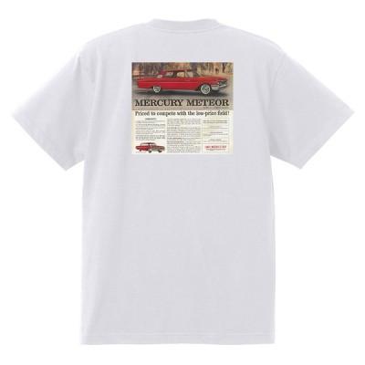 アドバタイジング マーキュリーTシャツ 白 1198 黒地へ変更可 1961 モントレー コメット メテオ モナーク ホットロッド レトロ