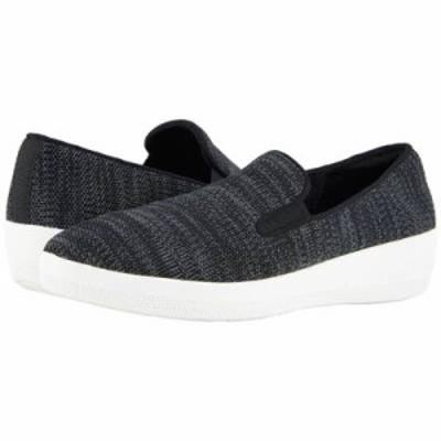フィットフロップ ローファー・オックスフォード Superskate Uberknit Loafers Black/Soft Grey