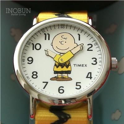 TIMEX×PEANUTS WEEKENDER タイメックス×ピーナッツ コラボモデル 男女兼用 チャーリー/イエロー(ベルト)