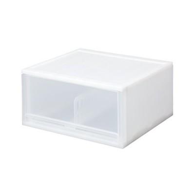 サンコープラスチック 小物収納 ブリオ CDワイド 幅36×奥34.7×高18.5cm ホワイト